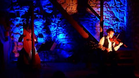 Szenenbild DuoCorda Tournee 2012 in Waldenburg