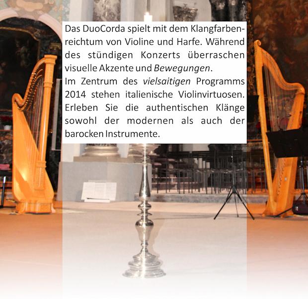 Instrumente und Programmbeschrieb 2014